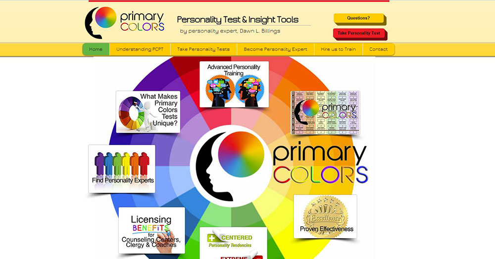 Primary Colors Personality Test by Dawn Billings